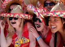 UC San Barbara sent costumed support